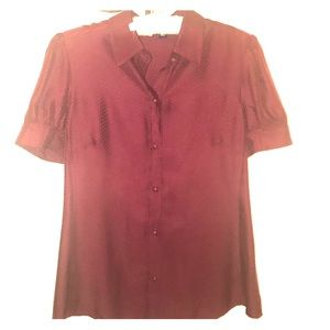 100% silk blouse short sleeve